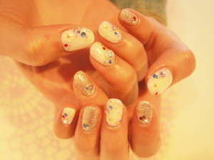 ☆10日☆ホワイト&ピンクNail☆