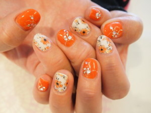 ☆1日☆ビタミンカラー♪+゜ピンク&オレンジNail☆