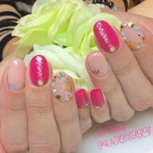 ピンクネイル♪