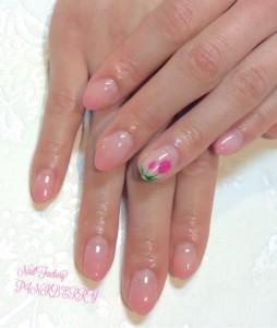 シンプル☆ピンクNail