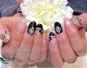 monotone nail♪