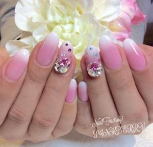 ピンク×ホワイトNail♪