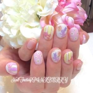 ピンク&パープルNail♪