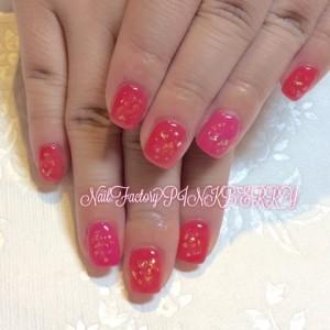 RED × PINK Nail♪