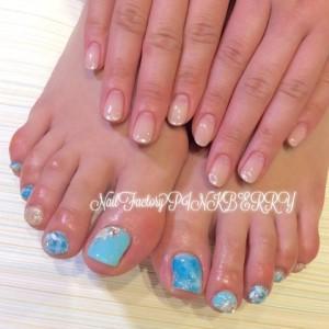 HAND&FOOTターコイズNail☆