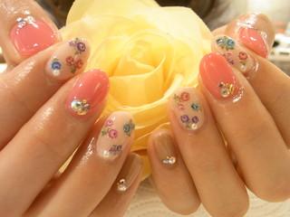☆25日☆GIRLYお花NAIL☆