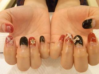 ☆30日☆ブラック&カラフルネイル☆
