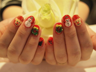 ☆3日☆今月のメルマガアート&クリスマスネイル2☆
