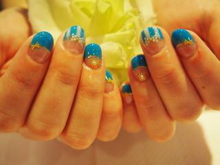 ☆17日☆人気上昇中♪ブルー系Nail☆